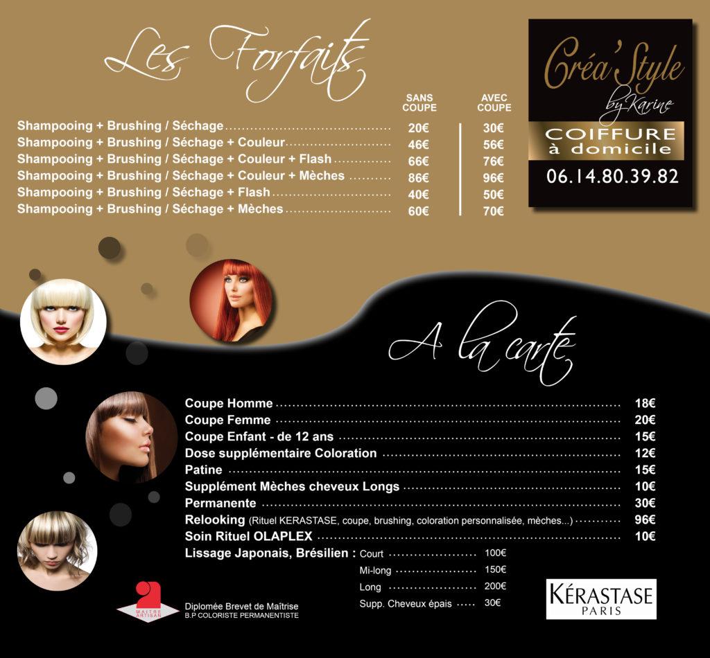 Bien connu Créa'Style by Karine - Coiffure à Domicile Agde et Alentour  ZO64
